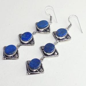 Lpc 293b boucles pendant oreilles 19gr lapis lazuli bijou ethnique argent achat vente