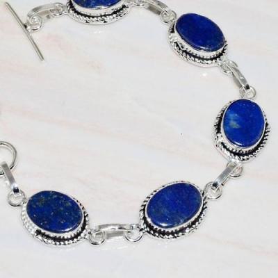 Lpc 294b bracelet 21gr lapis lazuli 12x16mm egyptien afghan bijou argent 925 achat vente