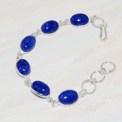 Lpc 295a bracelet 13gr lapis lazuli 10x15mm egyptien afghan bijou argent 925 achat vente
