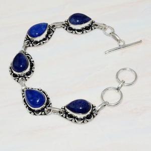 Lpc 296a bracelet 20gr lapis lazuli 10x15mm egyptien afghan bijou argent 925 achat vente