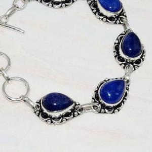 Lpc 296b bracelet 20gr lapis lazuli 10x15mm egyptien afghan bijou argent 925 achat vente