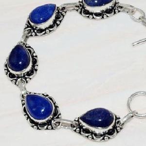 Lpc 296c bracelet 20gr lapis lazuli 10x15mm egyptien afghan bijou argent 925 achat vente