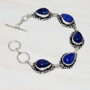 Lpc 296d bracelet 20gr lapis lazuli 10x15mm egyptien afghan bijou argent 925 achat vente