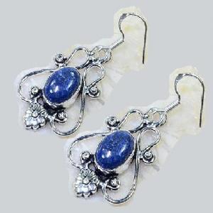 Lpc 299c collier boucles oreilles 45gr lapis lazuli tibet chine afghan bijou argent 925 achat vente 1