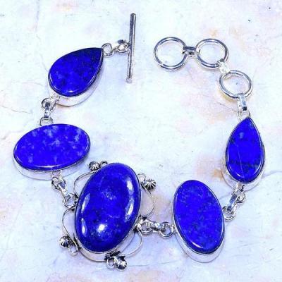 Lpc 302a bracelet 30gr lapis lazuli 18x30a tibet chine afghan bijou argent 925 achat vente