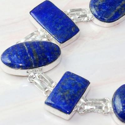 Lpc 307c bracelet 33gr lapis lazuli 18x30a tibet chine afghan bijou argent 925 achat vente