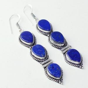 Lpc 309a boucles oreilles lapis lazuli tibet chine afghan bijou argent 925 achat vente
