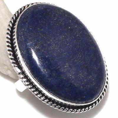 Lpc 315a bague chevaliere t58gr lapis lazuli 22x30mm tibet afghan bijou argent 925 achat vente