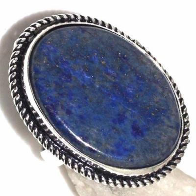 Lpc 316c bague chevaliere t54gr lapis lazuli 20x26mm tibet afghan bijou argent 925 achat vente