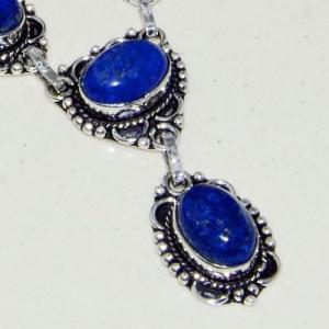 Lpc 317c collier parure sautoir lapis lazuli tibet chine afghan bijou argent 925 achat vente