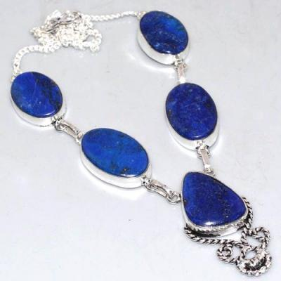 Lpc 319a collier parure sautoir lapis lazuli tibet chine afghan bijou argent 925 achat vente