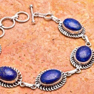Lpc 332b bracelet lapis lazuli bijou argent 925 achat vente