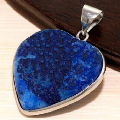 Lpc 336b pendentif pendant coeur lapis lazuli achat vente bijou ethnique egyptien afghan argent 925