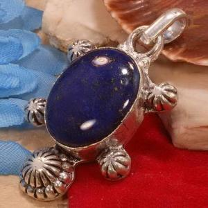 Lpc 342a pendentif pendant tortue lapis lazuli achat vente bijou ethnique egyptien afghan argent 925