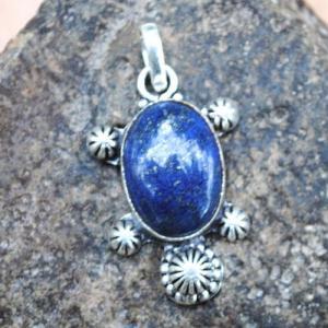 Lpc 342c pendentif pendant tortue lapis lazuli achat vente bijou ethnique egyptien afghan argent 925