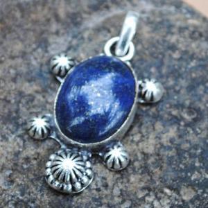 Lpc 342d pendentif pendant tortue lapis lazuli achat vente bijou ethnique egyptien afghan argent 925