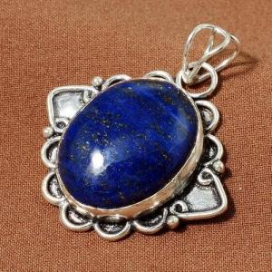 Lpc 344b pendentif lapis lazuli achat vente bijou ethnique egyptien afghan argent 925 lp9935
