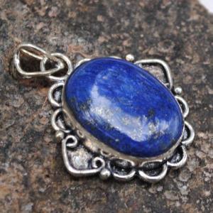 Lpc 344d pendentif lapis lazuli achat vente bijou ethnique egyptien afghan argent 925 lp9935