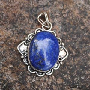 Lpc 344e pendentif lapis lazuli achat vente bijou ethnique egyptien afghan argent 925 lp9935