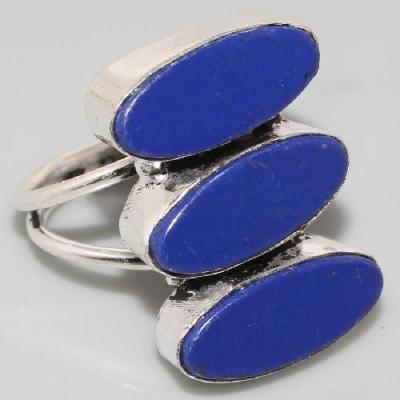 Lpc 350a bague chevaliere t57 8x18mm lapis lazuli medievale afghan bijou argent 925 achat vente