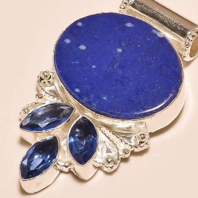 Lpc 353c pendant pendentif lapis lazuli tanzanite achat vente bijou argent 925