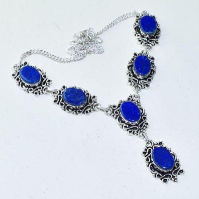 Lpc 366a collier sautoir parure 31gr lapis lazuli ethnique afghan argent achat vente