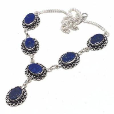 Lpc 371d collier sautoir parure 29gr lapis lazuli ethnique afghan argent achat vente