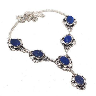 Lpc 373a collier sautoir parure 30gr lapis lazuli ethnique afghan argent achat vente