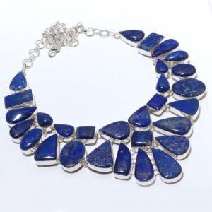Lpc 375a collier sautoir parure 136gr lapis lazuli ethnique afghan argent achat vente
