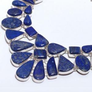 Lpc 375b collier sautoir parure 136gr lapis lazuli ethnique afghan argent achat vente