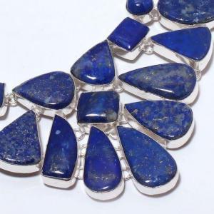 Lpc 375c collier sautoir parure 136gr lapis lazuli ethnique afghan argent achat vente