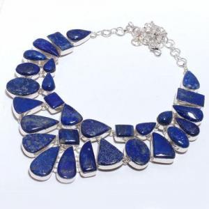 Lpc 375d collier sautoir parure 136gr lapis lazuli ethnique afghan argent achat vente