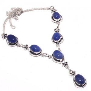 Lpc 376a collier sautoir parure 27gr lapis lazuli 10x15mm ethnique afghan argent achat vente
