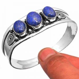 Lpc 461d bracelet torque 28gr lapis lazuli 10x16mm bijoux ethniques argent achat vente