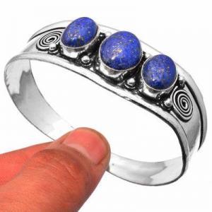 Lpc 461e bracelet torque 28gr lapis lazuli 10x16mm bijoux ethniques argent achat vente