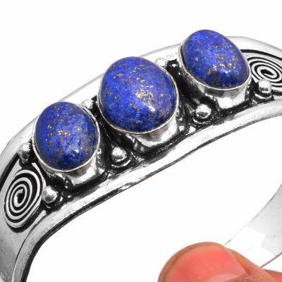 Lpc 461f bracelet torque 28gr lapis lazuli 10x16mm bijoux ethniques argent achat vente