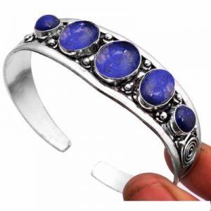 Lpc 462a bracelet torque 32gr lapis lazuli 10x16mm bijoux ethniques argent achat vente