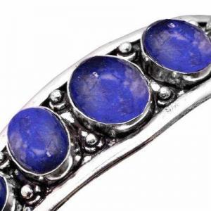 Lpc 462b bracelet torque 32gr lapis lazuli 10x16mm bijoux ethniques argent achat vente
