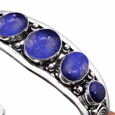 Lpc 462c bracelet torque 32gr lapis lazuli 10x16mm bijoux ethniques argent achat vente
