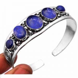 Lpc 462d bracelet torque 32gr lapis lazuli 10x16mm bijoux ethniques argent achat vente