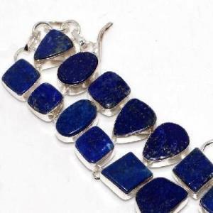 Lpc 463c bracelet 38gr lapis lazuli 15x10mm bijoux ethniques argent achat vente