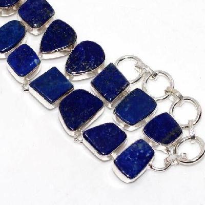 Lpc 463d bracelet 38gr lapis lazuli 15x10mm bijoux ethniques argent achat vente