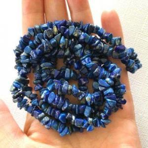 Lpc 470d collier 100gr 90cm lapis lazuli nuggets 10x5mm bijoux ethniques