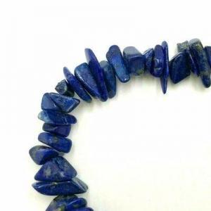 Lpc 473d collier 70gr 90cm lapis lazuli nuggets 10x5mm bijoux ethniques