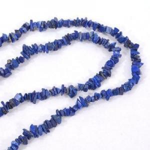 Lpc 475d collier 40gr 90cm lapis lazuli nuggets 10x5mm bijoux ethniques