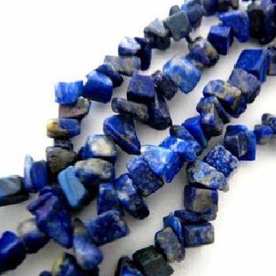 Lpc 478b collier 90gr 90cm lapis lazuli nuggets 10x5mm bijoux ethniques