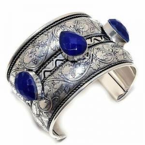 Lpc 481a bracelet torque 60gr lapis lazuli 15x20mm bijoux ethniques argent achat vente
