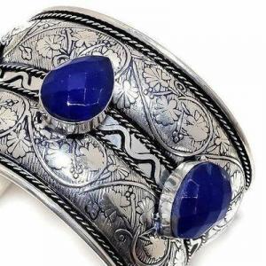 Lpc 481b bracelet torque 60gr lapis lazuli 15x20mm bijoux ethniques argent achat vente
