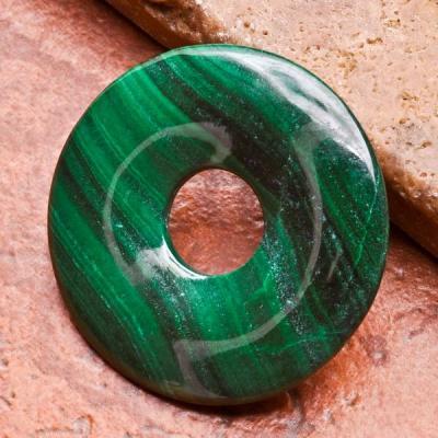 Mal 001a perle donut penedentif malachite loisirs creatifs talisman