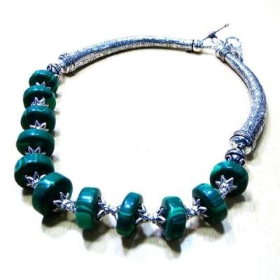 Mal 021a collier parure malachite achat vente bijoux argent 925 ethnique